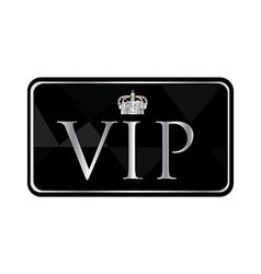 Silver vip pass vector