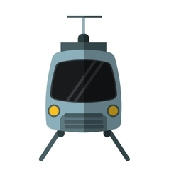 tram travel public transport urban with shadow vector image vector image