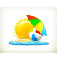 Summer icon vector image