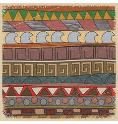 vintage tribal pattern vector image
