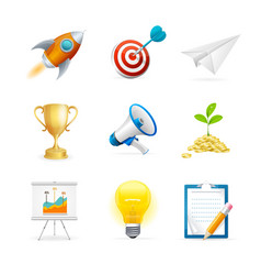 Start up icon color set vector