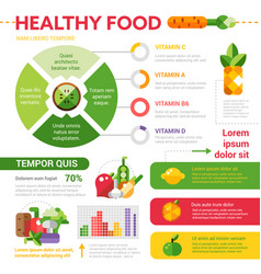Healthy food template set with vector