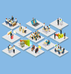 Business training isometric set vector