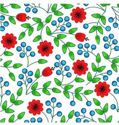 Flowers and berries vector
