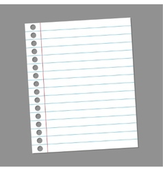 Blank paper note for records vector