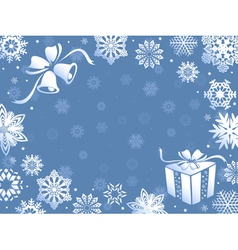 Christmas greeting card in blue hues vector