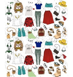 Fashion clothing set vector