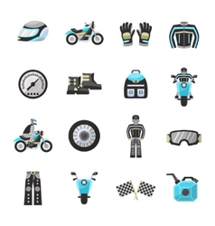 Bike rider flat icons set vector