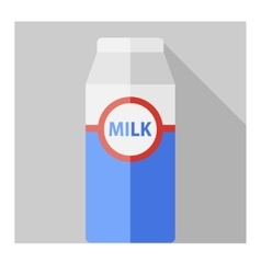 Flat milk bottle vector