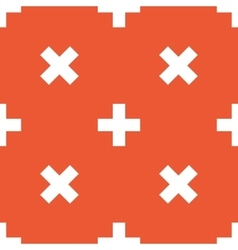 Orange plus pattern vector