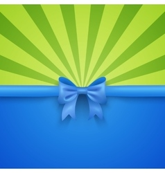 Green beam background with blue gift bow and vector