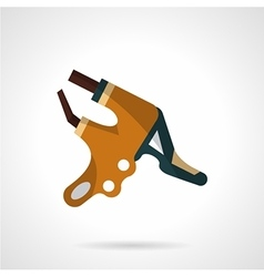 Colored handlebar brake icon vector