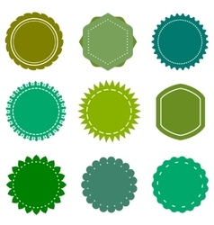 Eco organic natural blank green badges vector