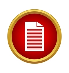 Document icon simple style vector
