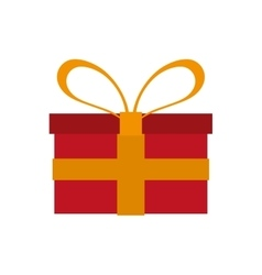 Gift box with ribbon  over vector