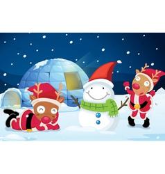 Reindeer Party vector image
