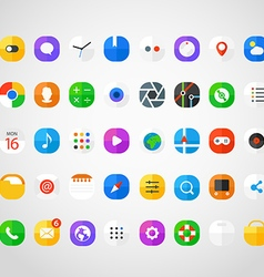 Different modern smartphone application icons set vector