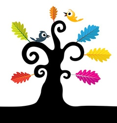 Abstract Tree Tree with Curled Branches and vector image vector image
