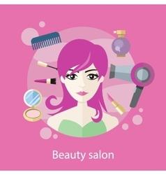 Beauty salon concept flat style design vector