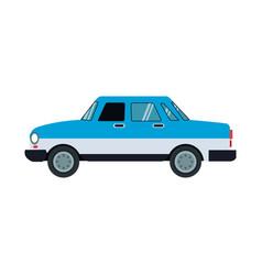 Blue car sedan vehicle transport image vector