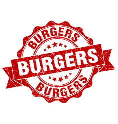 Burgers stamp sign seal vector