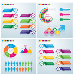 business infographic set can be used for workflow vector image