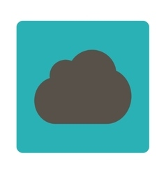 Cloud flat grey and cyan colors rounded button vector