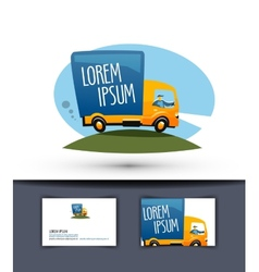 delivery logo design template truck or business vector image