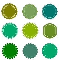 Eco organic natural blank green badges vector