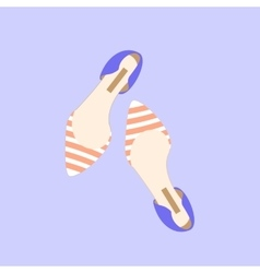 Fashion Shoes Design Style Woman Girl Lovely vector image
