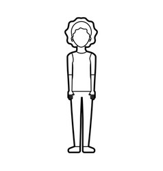 female character standing woman casual clothes vector image vector image