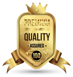 Gold tag premium quality vector