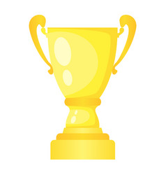 golden trophy champion cup vector image