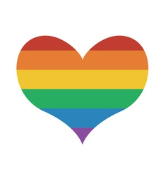 Heart Icon with rainbow flag vector image