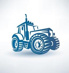 Modern tractor symbol vector