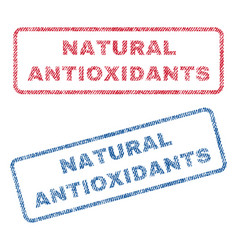 Natural antioxidants textile stamps vector