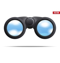 Optical binoculars vector