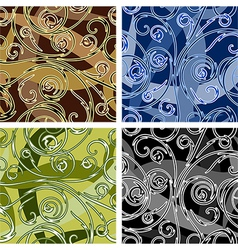 Seamles swirl pattern vector image vector image