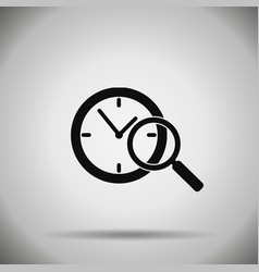search time icon vector image vector image