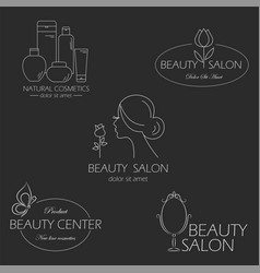 set of beauty logo templates labels badges vector image vector image