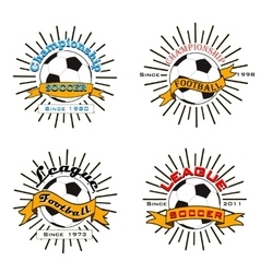 Set of soccer football logo vector image vector image
