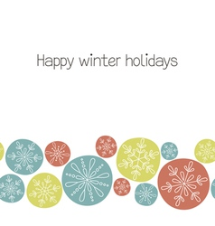 Snowflakes seamless border vector image vector image