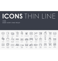 Store thin line icons vector