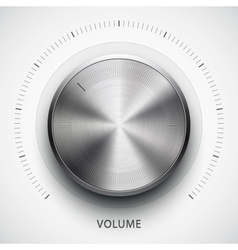 Technology volume button with metal texture vector