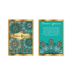 template vintage luxury gift card floral vector image