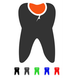 Tooth caries flat icon vector