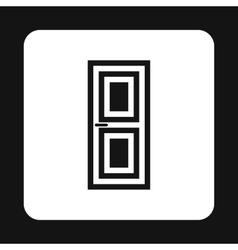 Wooden interior door icon simple style vector
