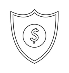 Shield dollar sign icon vector