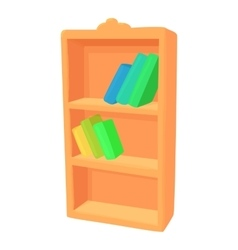 Bookcase icon cartoon style vector