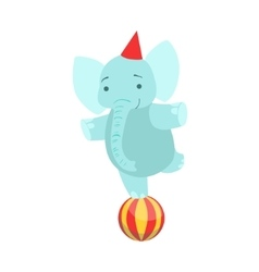 Circus trained elephant animal artist performing vector